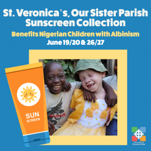 Graphic for Sunscreen Collection to benefit Nigerian children